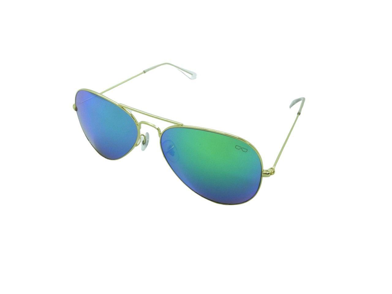 Óculos de Sol Unissex 3025 Verde Espelhado 58