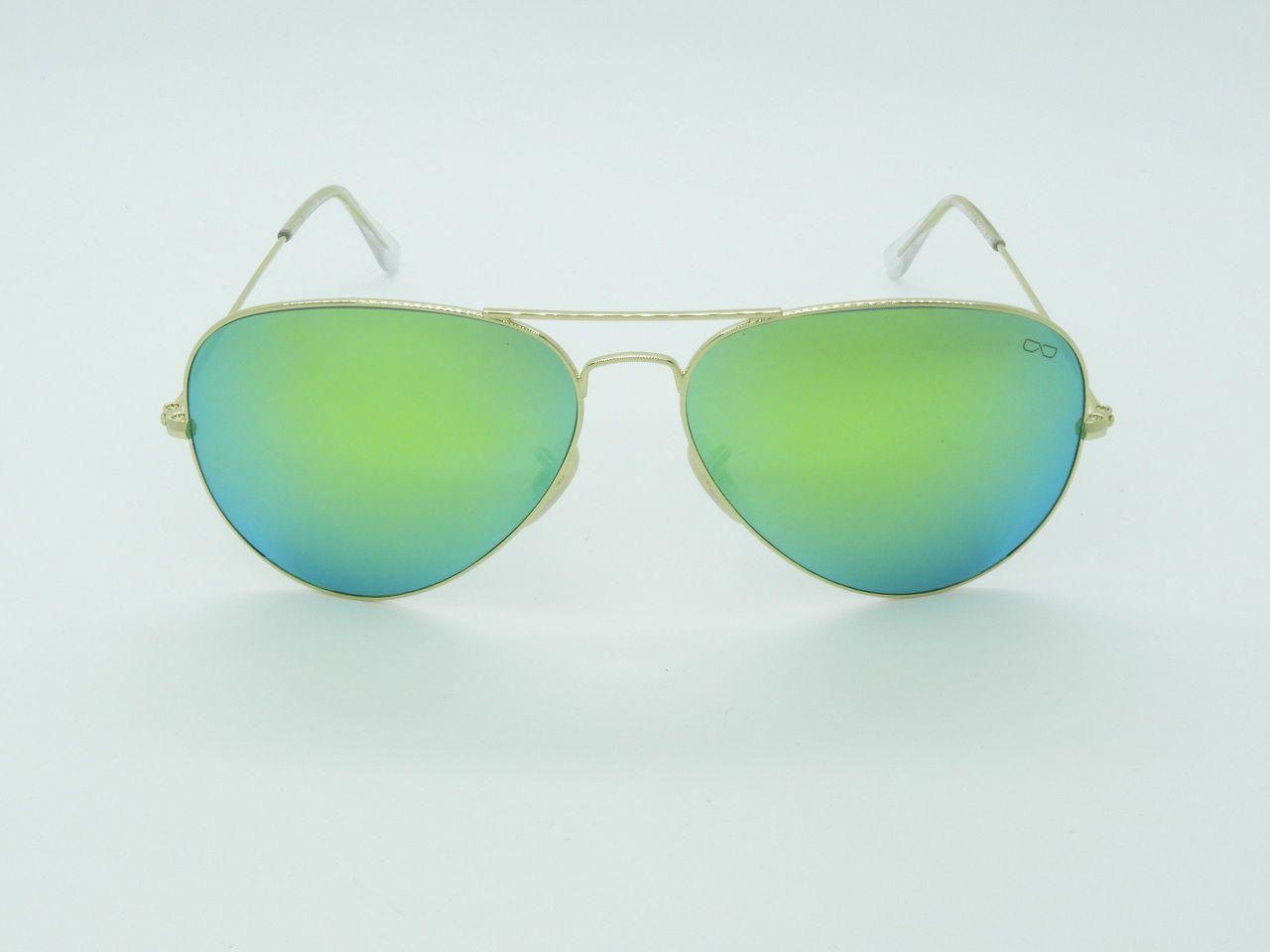 Óculos de Sol Unissex 3025 Verde Espelhado 62