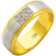 Aliança Dell'Amore de Ouro 18K ZAE145