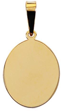 pingente de ouro oval ZPS14