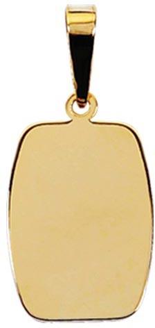 Pingente ouro placa personalizada ZPS19