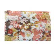 Necessaire Pequeno Floral Chica Bordô 76
