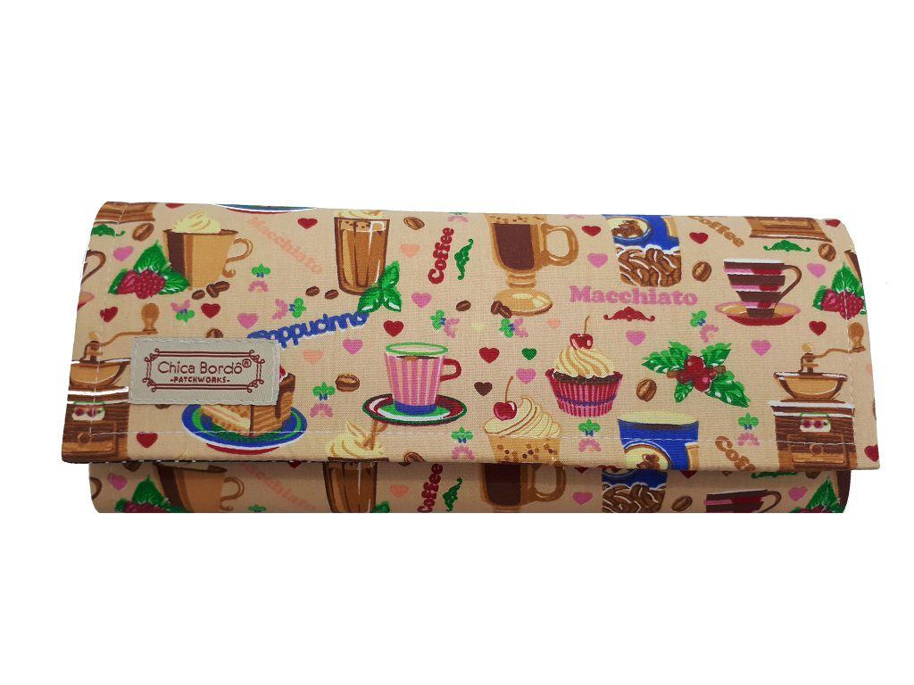 Carteira Feminina Grande Cup Cake Chica Bordô 0119