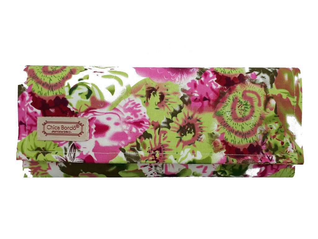 Carteira Feminina Grande Floral Chica Bordô 2604