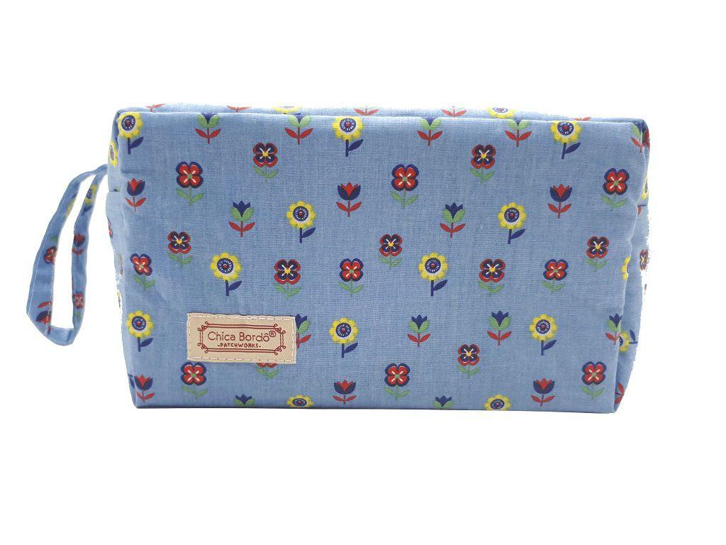 Necessaire Estojo Floral Chica Bordô 6302