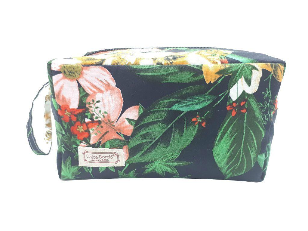 Necessaire Estojo Floral Chica Bordô 6821