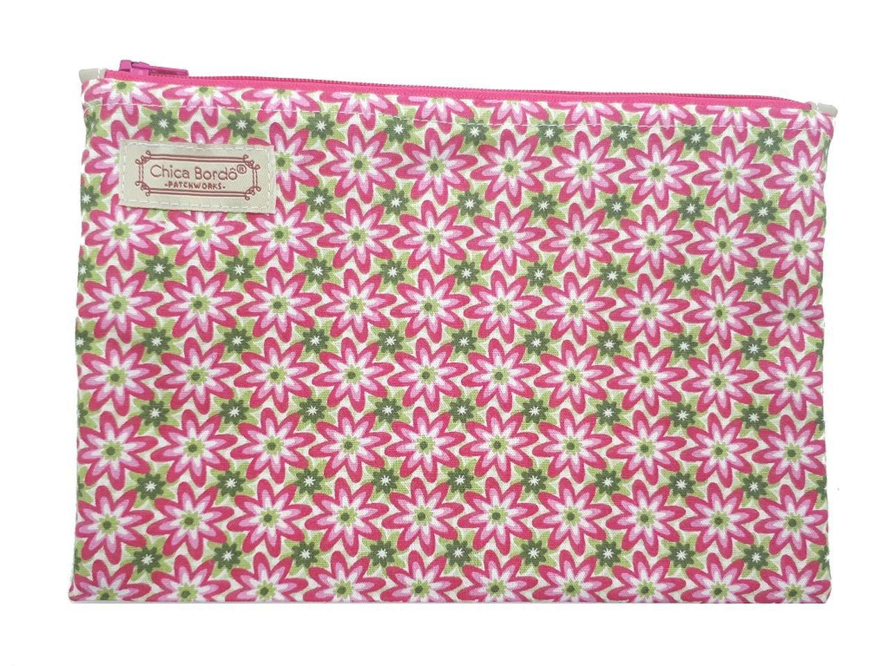 Necessaire Pequeno Floral Chica Bordô 02
