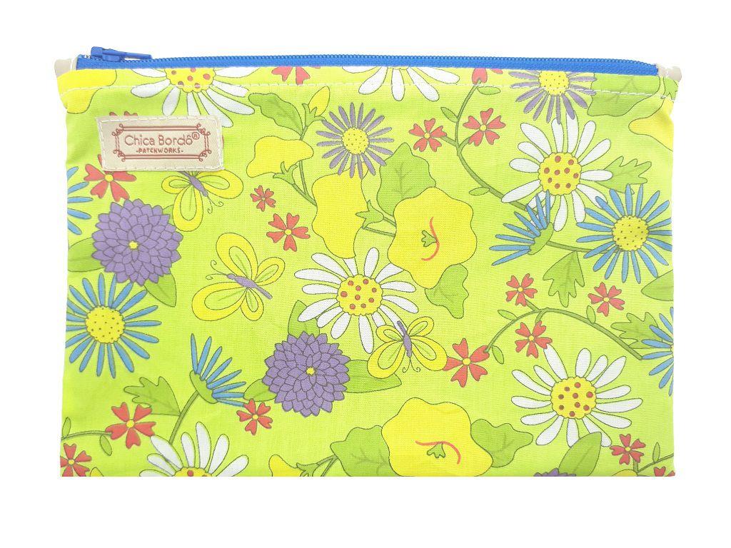 Necessaire Pequeno Floral Chica Bordô 06