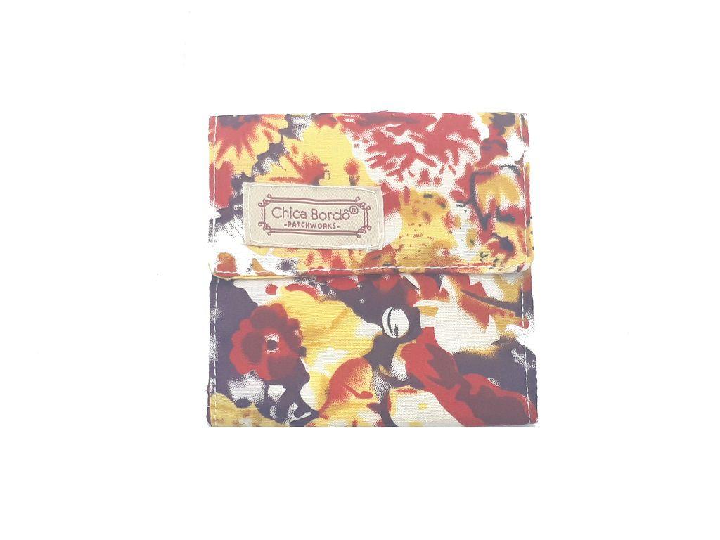 Porta Absorventes Floral Chica Bordô 6404