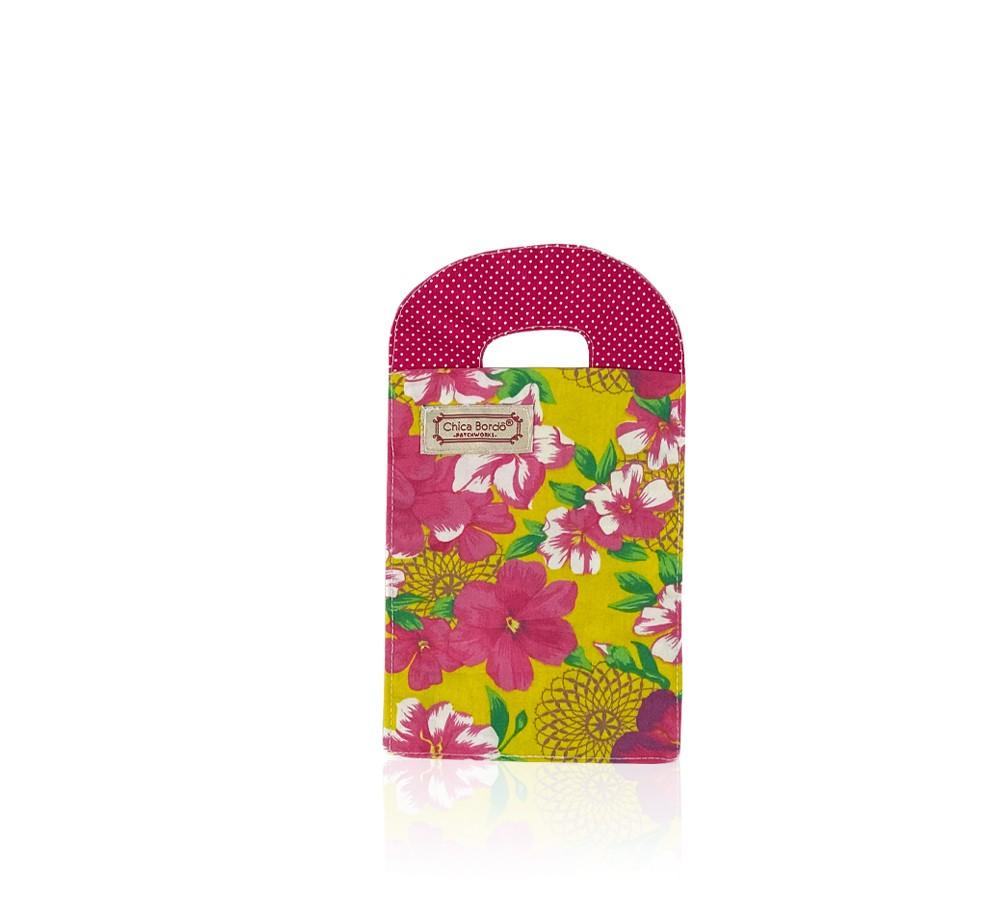 Porta Carregador de Celular Floral 32 Chica Bordô