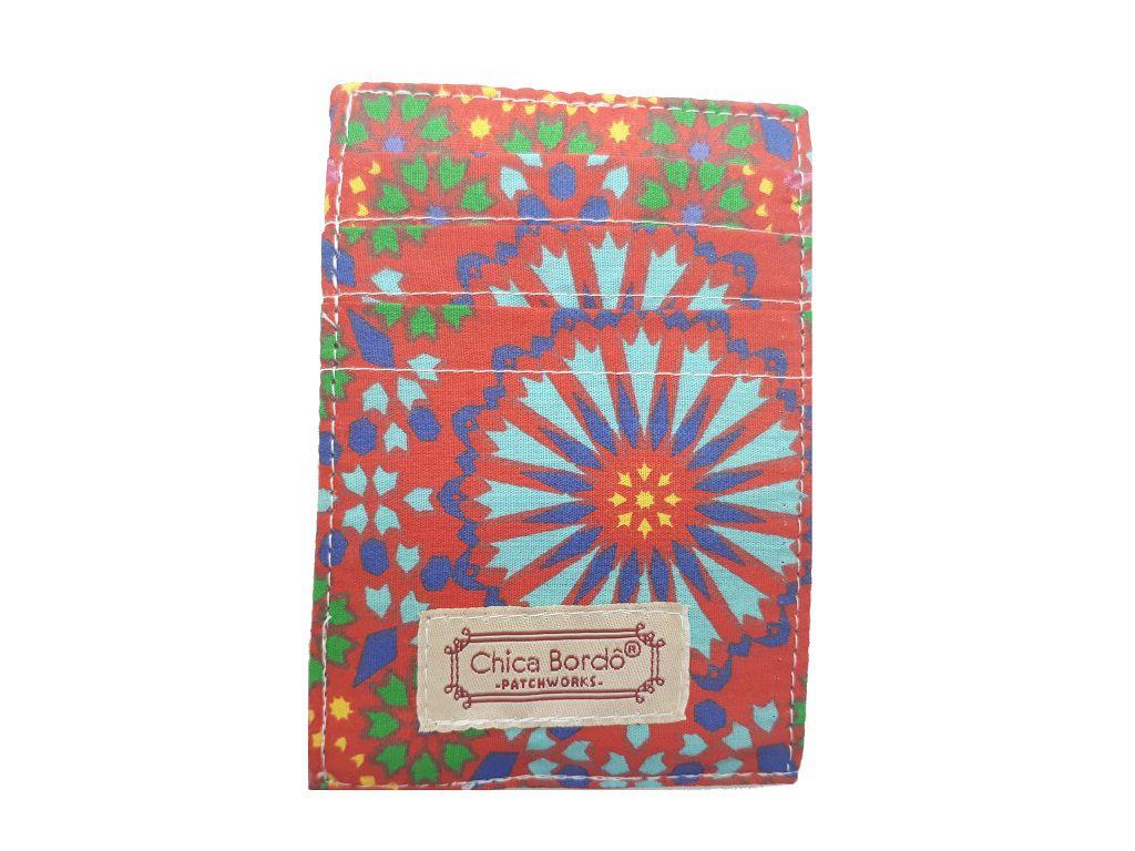 Porta Cartão Abstrata Chica Bordô 35