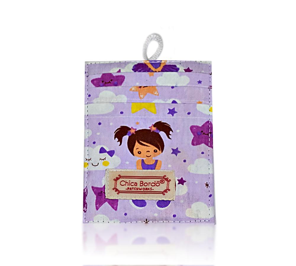 Porta Cartão Bailarina 15 Chica Bordô