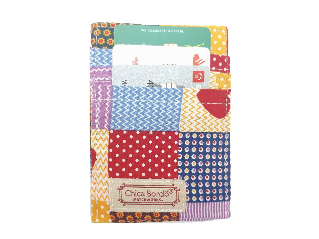 Porta Cartão Coração Chica Bordô