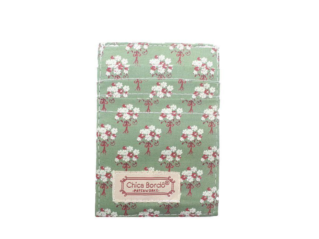 Porta Cartão Floral Chica Bordô 60