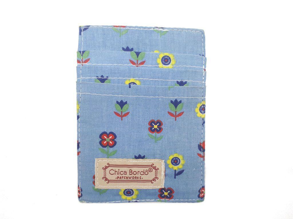 Porta Cartão Floral Chica Bordô 63