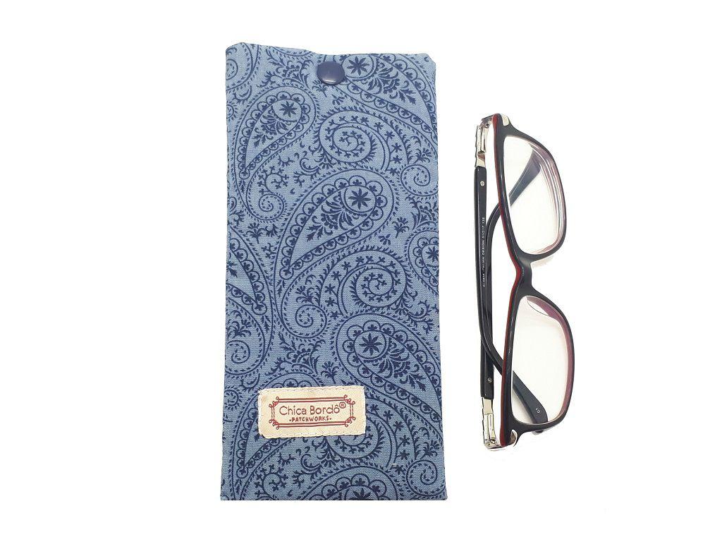 Porta Óculos Abstrato Chica Bordô 29