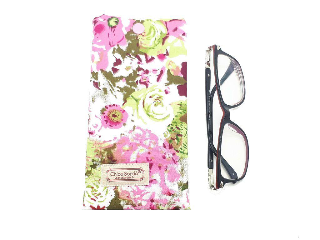 Porta Óculos Floral Chica Bordô 26
