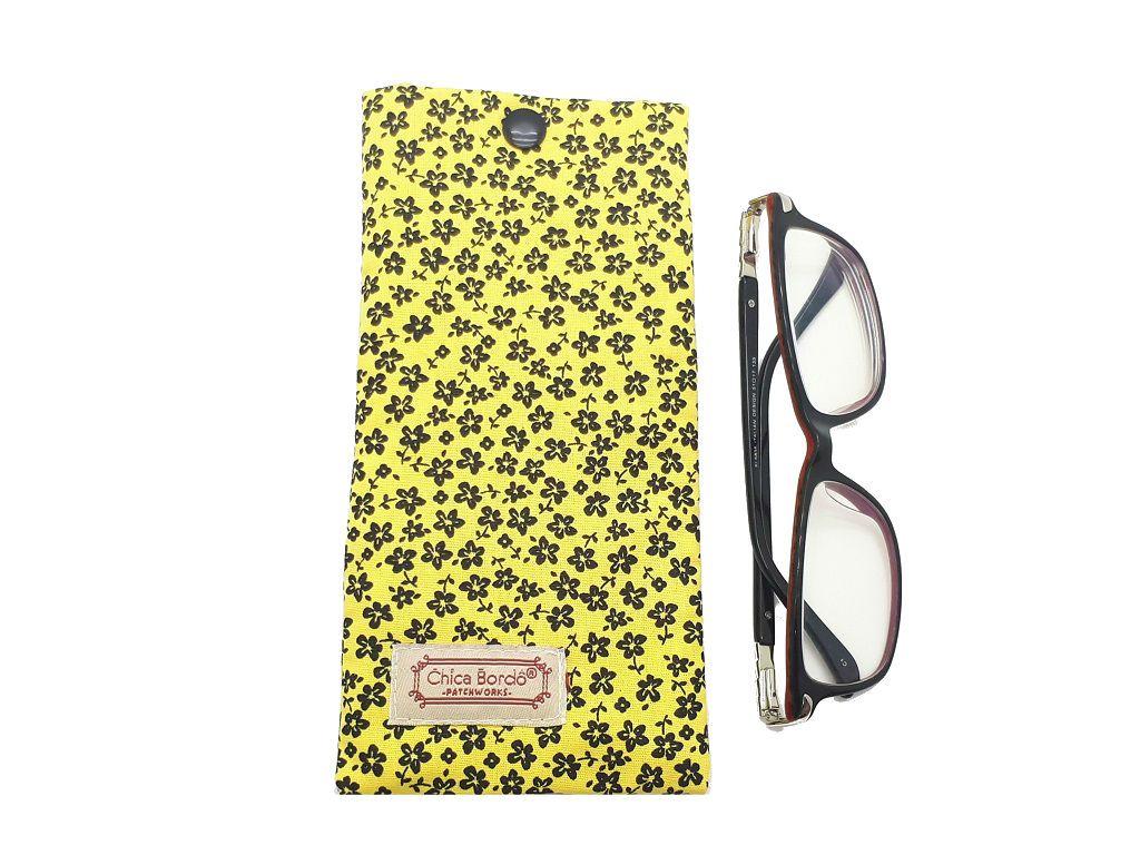 Porta Óculos Floral Chica Bordô 59