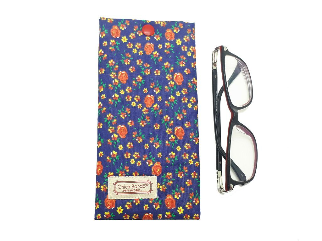 Porta Óculos Floral Chica Bordô 67