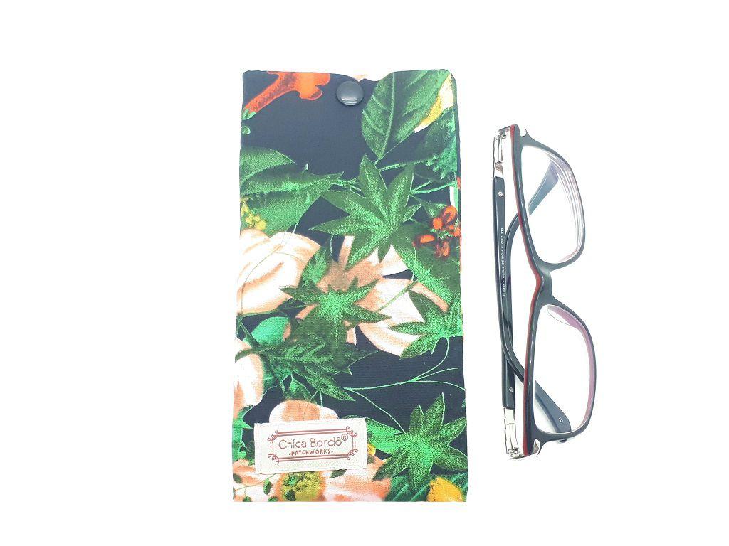 Porta Óculos Floral Chica Bordô 68
