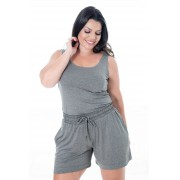 SHORTS PLUS SIZE MESCLA