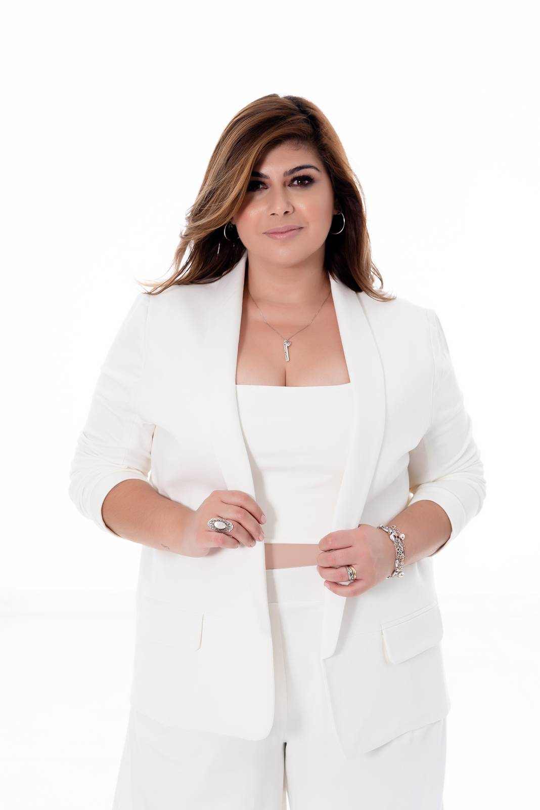 BLAZER PLUS SIZE OFF WHITE
