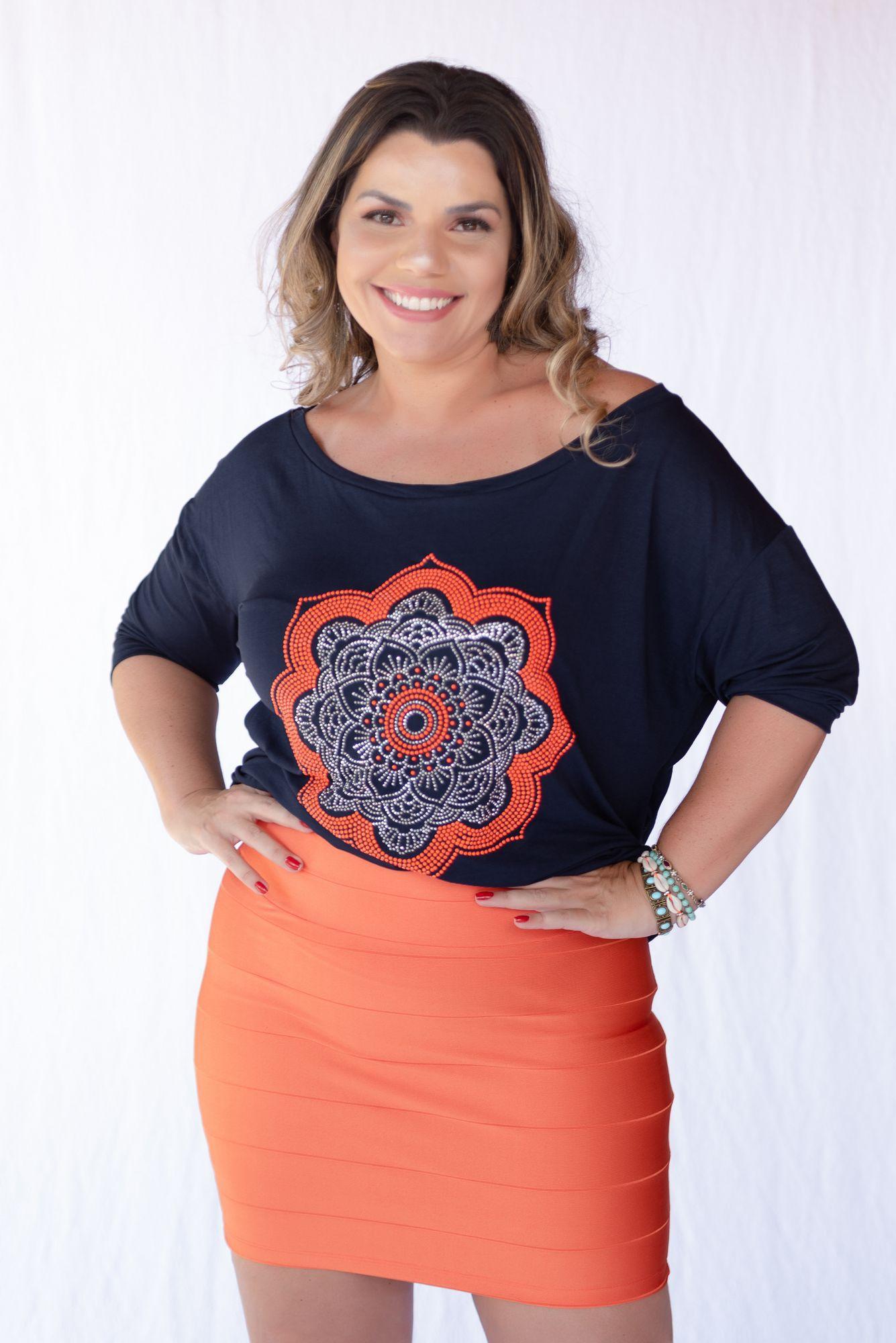 BLUSA MARINHO MANDALA NEON