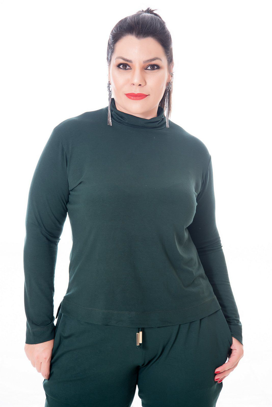 CACHARREL PLUS SIZE VERDE MILITAR