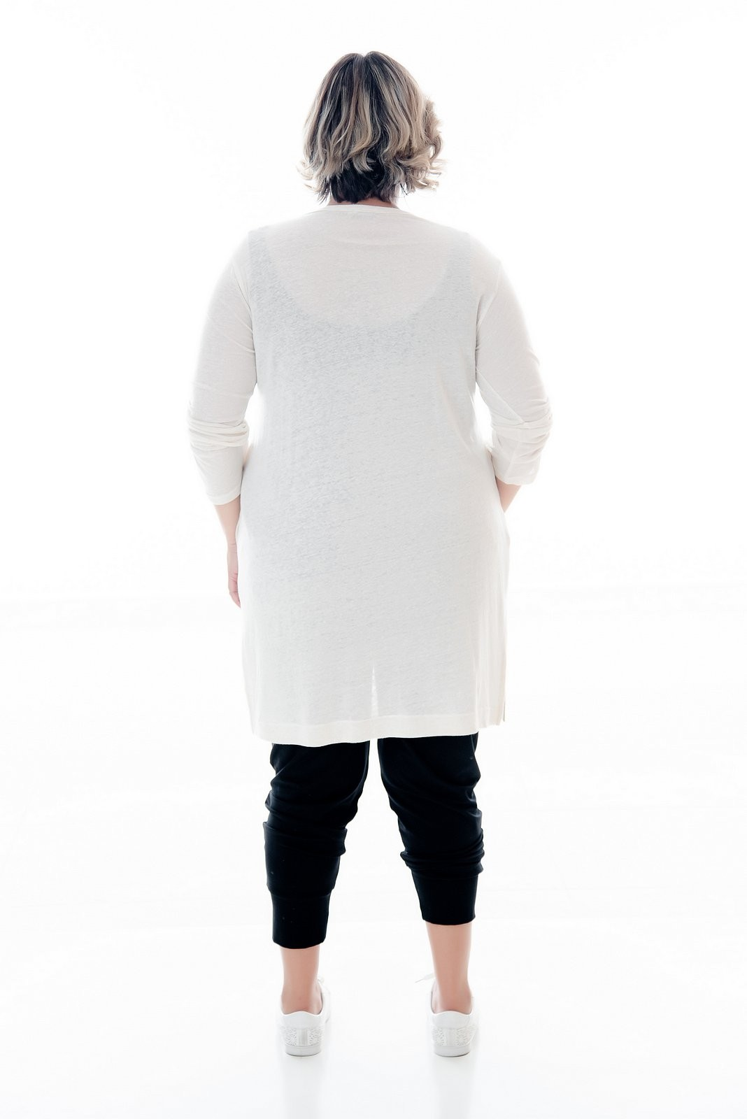 CARDIGAN PLUS SIZE OFF WHITE