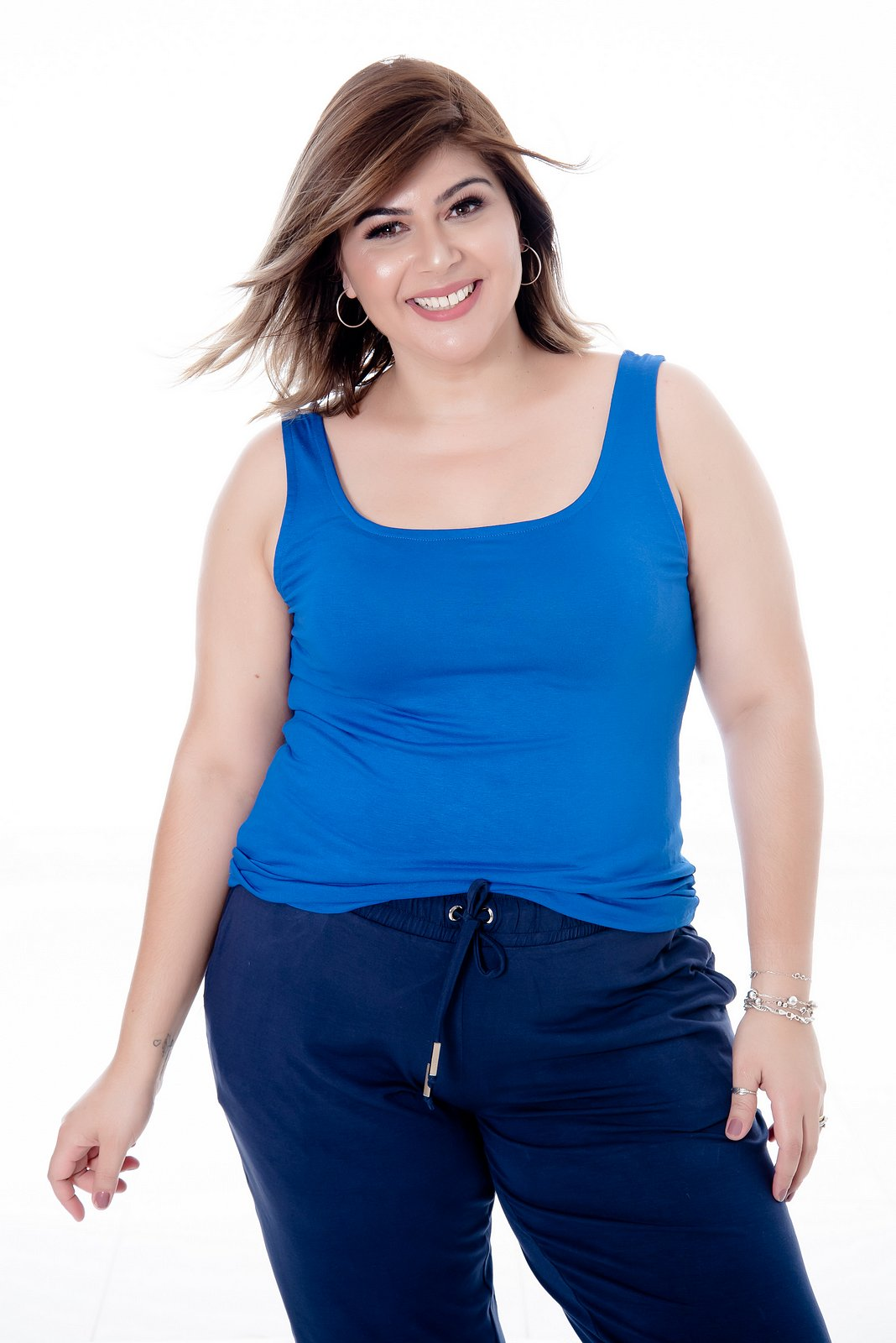 REGATA PLUS SIZE BÁSICA AZUL ROYAL