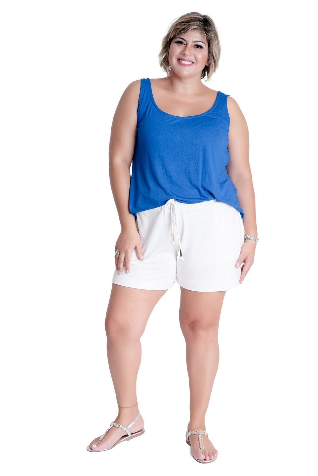 REGATA  PLUS SIZE EVASÊ COLORIDAS