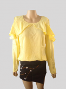 Blusa Amarela com Babados