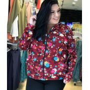 Jaqueta Estampada Floral - Plus