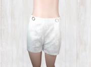 Shorts Cintilante com Botões
