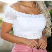Top Cropped Renda Ciganinha