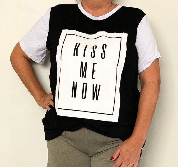 Blusa Plus Size - Kiss Me