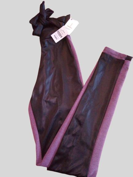 Calça Cintura Alta Couro Sintético