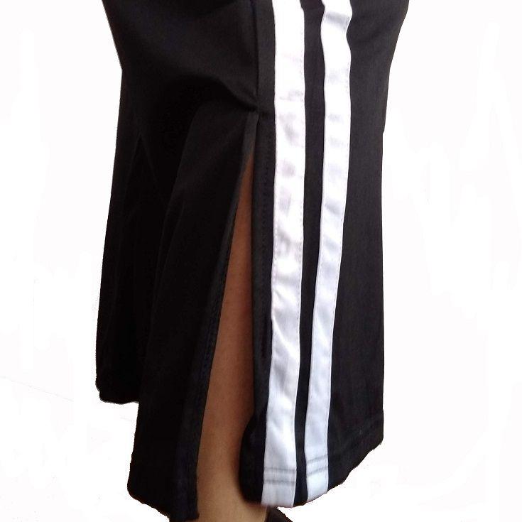 Calça Pantalona com Listras Laterais