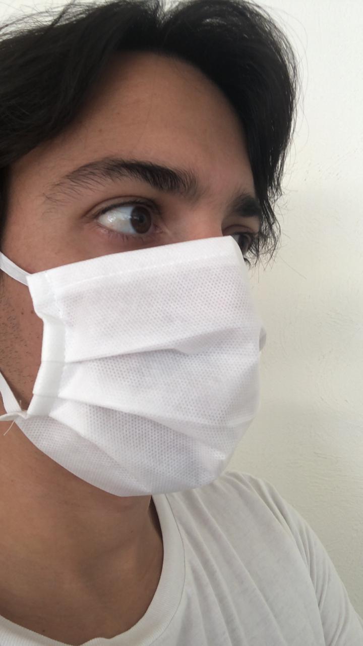 Máscara Descartável Dupla - 100 Unidades