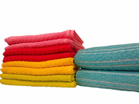Toalhas de rosto de algodão com listras finas - Várias cores (2 unidades)