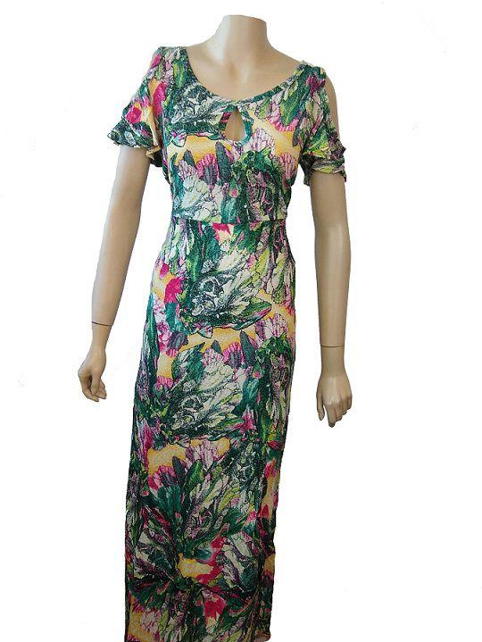 Vestido Feminino Longo Floral