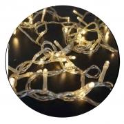 Pisca Cordão LED À Prova D'água - Fio Transparente C/ LED Morno