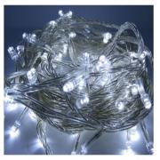 Pisca Natal Cordão LED À Prova D'água - Branco c/ fio transparente