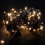Pisca Pisca de Natal 100 Lâmpadas 8 Funções Luz Amarela 110V