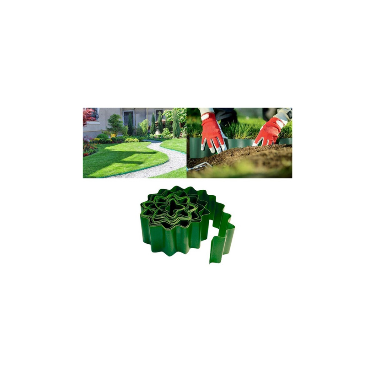 Separador Limitador de Grama 15x900cm Jardinagem Palisad