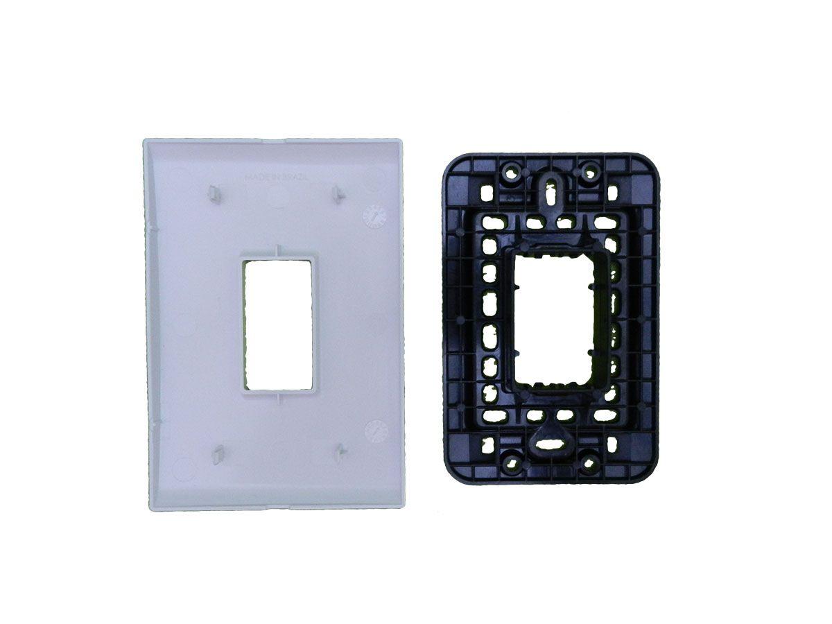Conjunto de interruptores simples, verticais 4x2 Liz Tramontina - 10 unidades