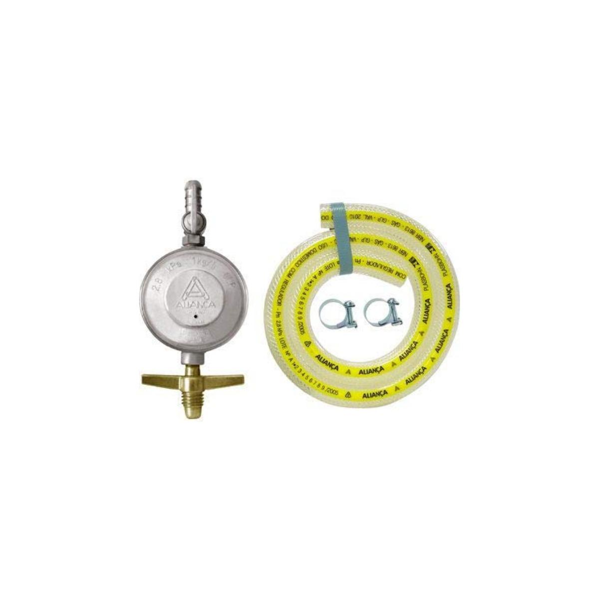 Kit Registro Regulador de Gás com Mangueira 80cm 505/01 Aliança