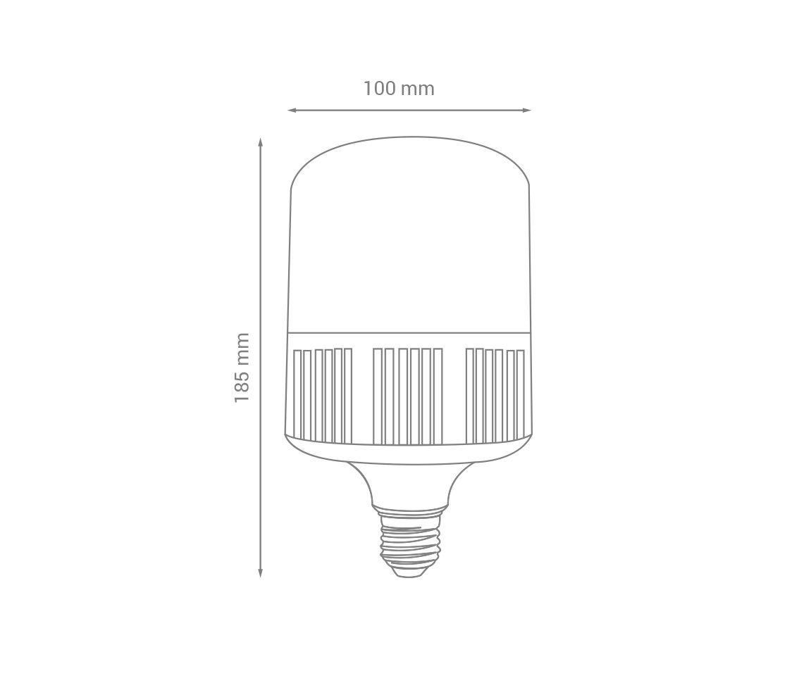 Lâmpada Bulbo T LED, branco frio, 22W, 2.700lm, 6.500K