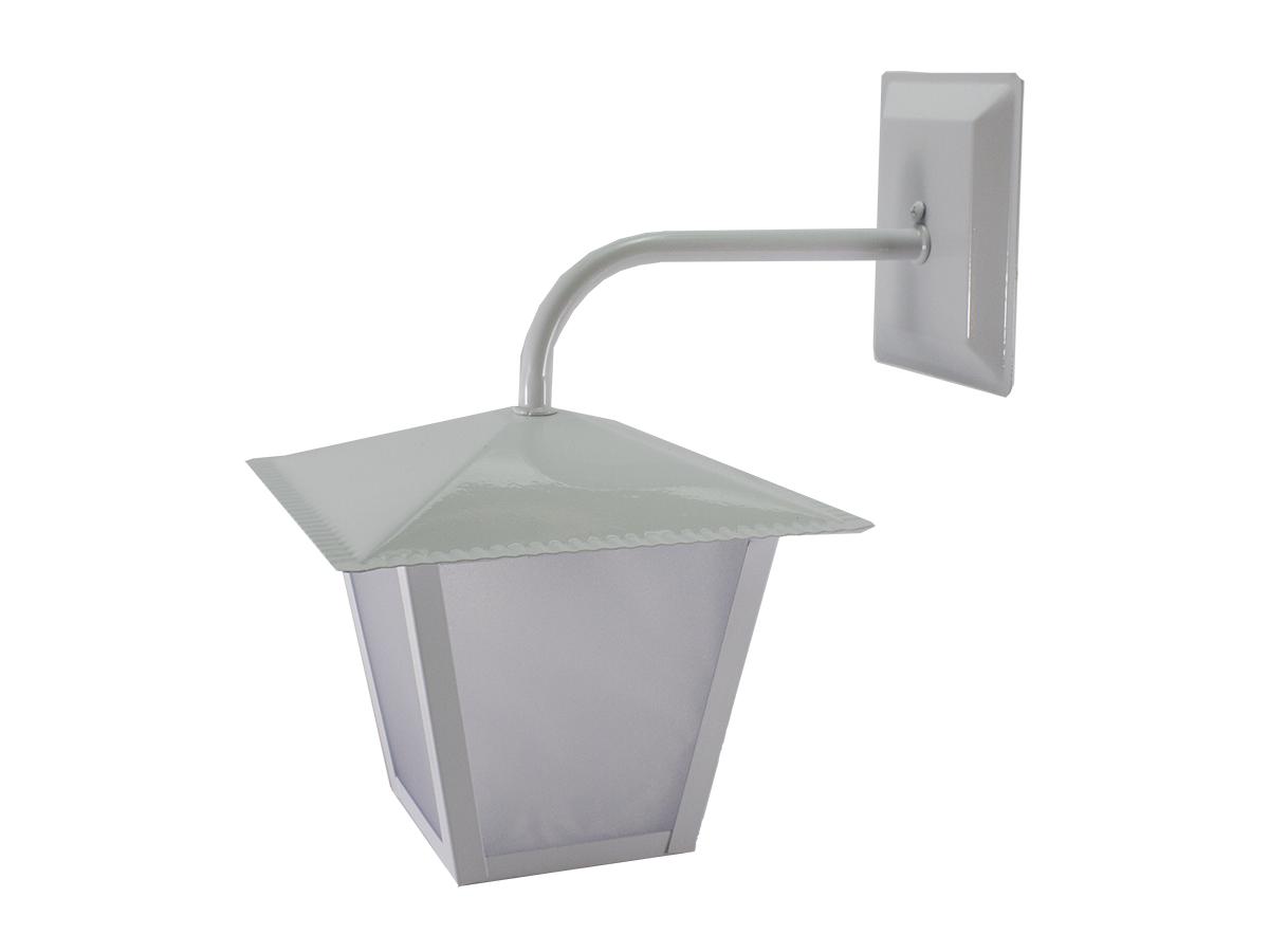 Luminária Arandela Colonial Quadrada L4B Branca - Ideal