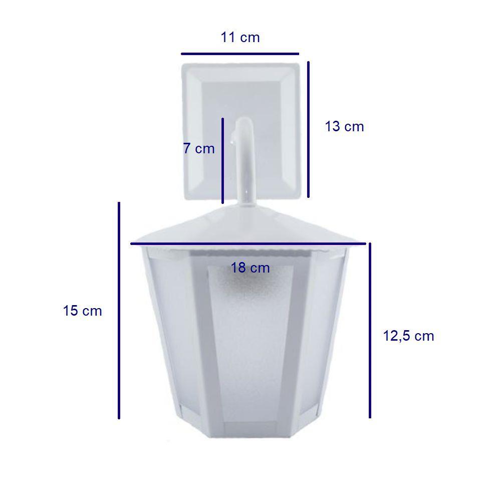 Luminária Arandela Colonial Sextavada L1B Branca - Ideal